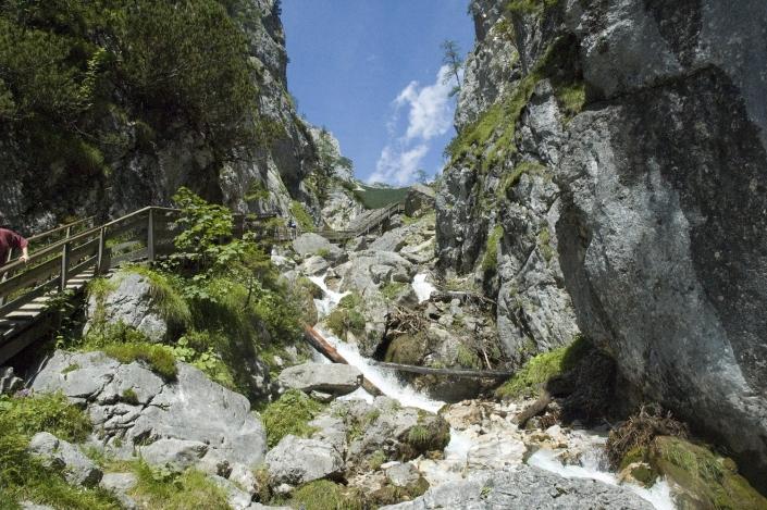 Wanderung durch die malerische Silberkarklamm - Pension Alpina