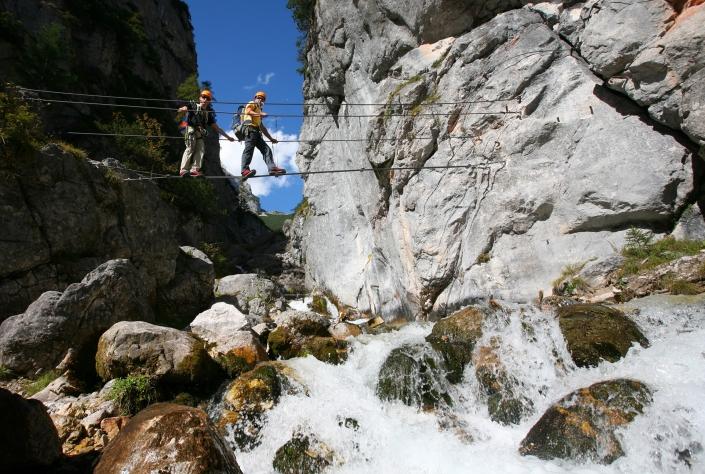 Hias-Klettersteig Silberkarklamm-Ramsaua am Dachstein